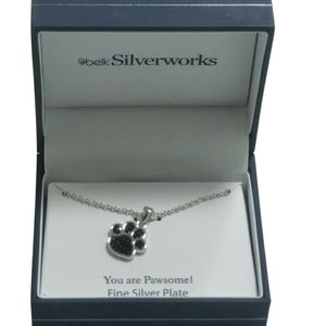 Belk Silverworks Dog Paw Necklace